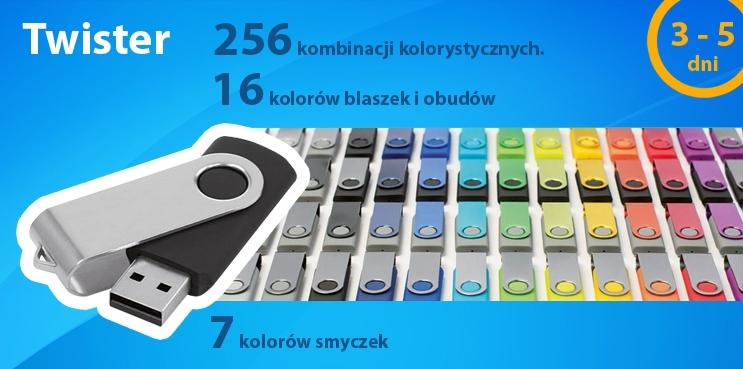 Twister - 256 kombinacji kolorystycznych, 16 kolorów blaszek i obudów, 7 kolorów smyczek